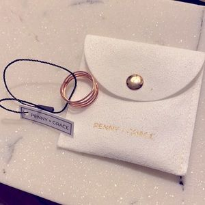Penny + Grace Twisted Ring, Rose Gold 7